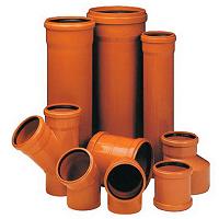 Трубы НПВХ, ПВХ для наружной канализации и фитинги