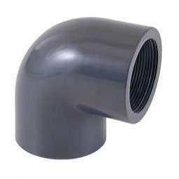 Отвод ПВХ 90 гр (внутренняя резьба) клеевой