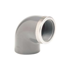 Отвод ПВХ 90 гр (клеевой-внутренняя резьба) усиленный